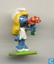 Smurfette with flowers