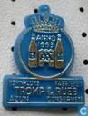 Koninklijke fabrieken Tromp & Rueb Azijn Conserven [goud op blauw]