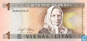 Lituanie 1 litas