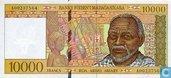 Madagascar 10.000 francs