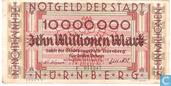 Nürnberg 10 Miljoen Mark 1923