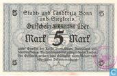 Bonn und Siegkreis 5 Mark