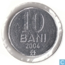 Moldavie 10 bani 2004