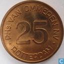 Boordgeld 25 cent 1964 van Ommeren