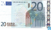 Zone Euro 20 Euro S-J-Du