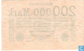 Banknotes - Reichsbanknote - Germany 200,000 mark