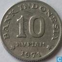 """Indonesia 10 rupiah 1971 """"F.A.O."""""""