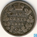 Canada 10 cents 1888