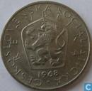Tchécoslovaquie 5 korun 1968
