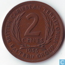British Caribbean Territories 2 cents 1955