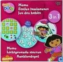 Dora 3 in 1 Memo Lichtgevende sterren Aankleedspel