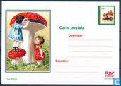 Briefkaart paddenstoelen