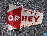 Ophey wafels gauffrettes [rood]