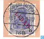Germania, with overprint
