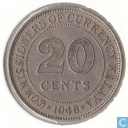 Malaya 20 Cent 1948