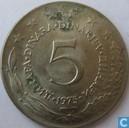 Yougoslavie 5 dinara 1975