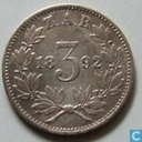 South Africa 3 pence 1892