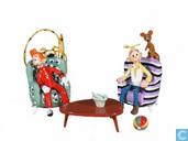 Spirou und Fantasio in ihren Stühlen