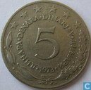 Joegoslavië 5 dinara 1973
