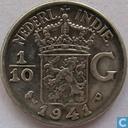 Dutch East Indies 1/10 gulden 1941 P