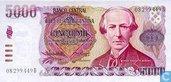 Argentine 5000 Pesos Argentinos 1984