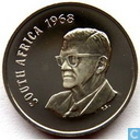 "South Africa 20 cent 1968 (english) ""The end of Charles Robberts Swart's presidency"""