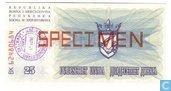 Bosnië Herzegovina 25 Dinara SPECIMEN