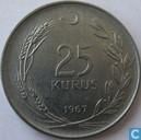 Turkije 25 kurus 1967