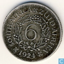 South Africa 6 pence 1924