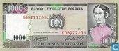 Bolivia 1000 pesos bolivianos
