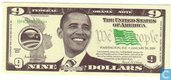 Etats-Unis 9 dollars US Obama 2009