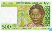 Madagascar 500 Francs (P75a)
