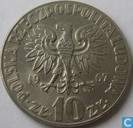 """Pologne 10 Zlotych 1967 """"Mikolaj Kopernik"""""""