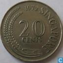 Singapore 20 cents 1972