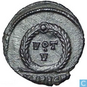 Roman Empire Emperor of Heraclea AE3 Kleinfollis Jovi Anus 363-364
