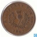 Nova Scotia ½ penny 1843