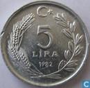 Türkei 5 Lira 1982