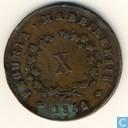 Portugal 10 Reis 1852
