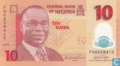 Nigeria 10 Naira 2009 (P39a2)