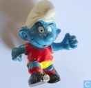 Voetbal smurf