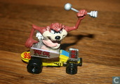 Tasmanian Devil in car, Taz Oil