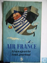 AIR FRANCE original poster of 1952. 50 x 30 cm.