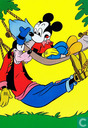 Mickey en Goofy in hangmat