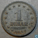 Yougoslavie 1 dinar 1945