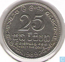 Sri Lanka 1989 25 cents