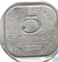 Sri Lanka 5 cents 1988