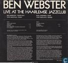 Disques vinyl et CD - Webster, Ben - Live at The Haarlemse Jazzclub