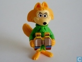 Fibber Fox with binoculars