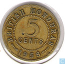British Honduras 5 cents 1958