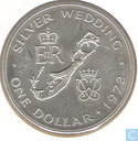 "Bermudes 1 dollar 1972 ""Silver Wedding"""